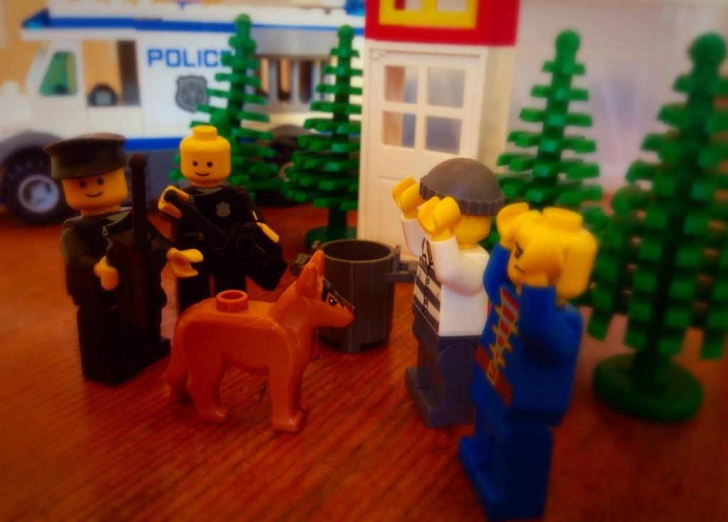 """""""It's a stick-up brick-up!"""" Photo: Police Scotland"""