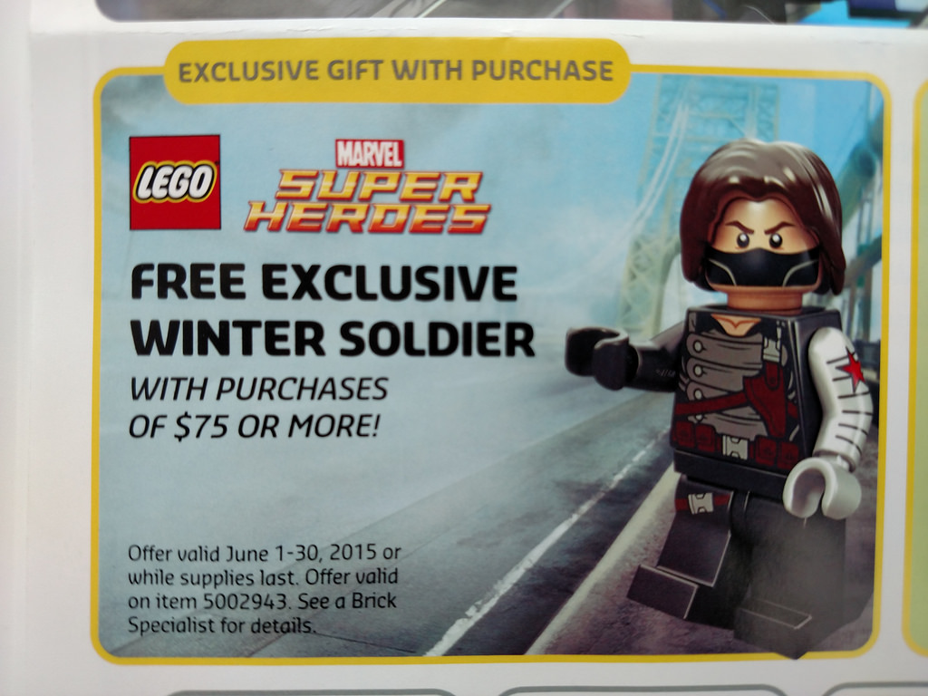 Get hold of your free Winter Soldier Marvel minifig this June
