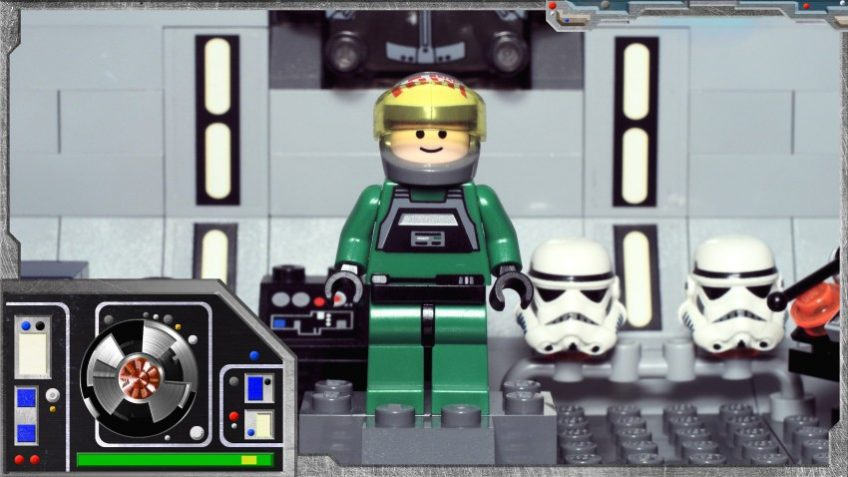Minifig Galaxy 'Classic Star Wars' A-Wing Pilot Set 7754 – 2009