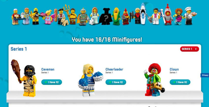 My Collection – The Lego Minifig Collection Tracker