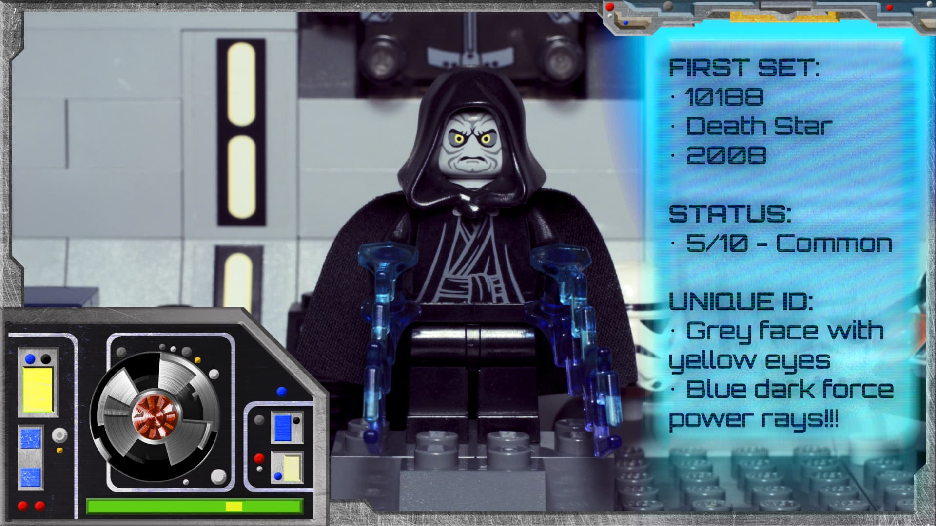 LEGO Star Wars Emperor Palpatine Minifig from set 10188 8096
